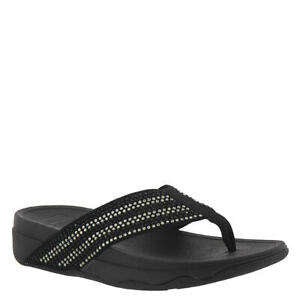 FitFlop Womens Surfa Crystal Black