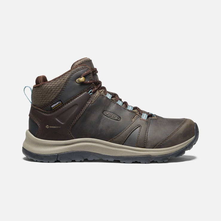 Keen Womens Terradora Mid Leather WP Coffee Bean North Atlantic