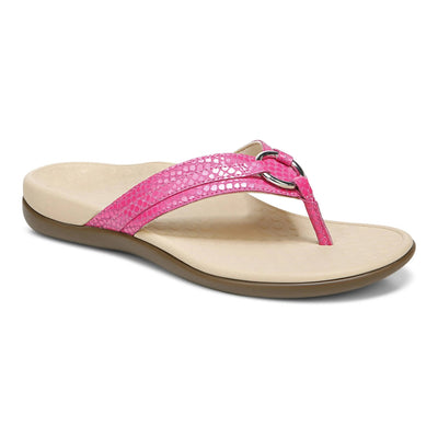 Vionic Womens Tide Aloe Toe Post Sandal Love Potion Lizard