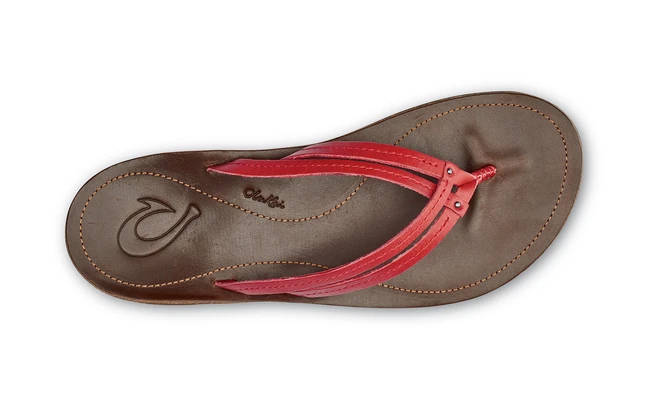 Olukai Womens U'I Ohia Red Dark Java
