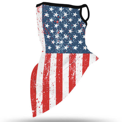 Unisex Face Scarf Bandana with Ear Loops American Flag-1