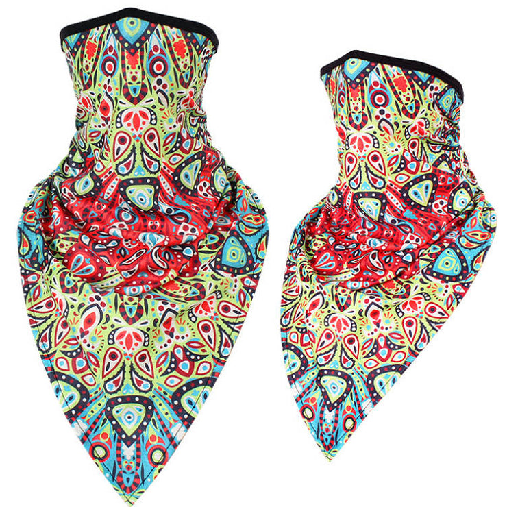 Unisex Face Scarf Bandana with Ear Loops Paisley Fiesta