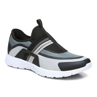 Vionic Womens Vayda Sneaker Black Grey