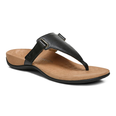 Vionic Womens Wanda Black Wide