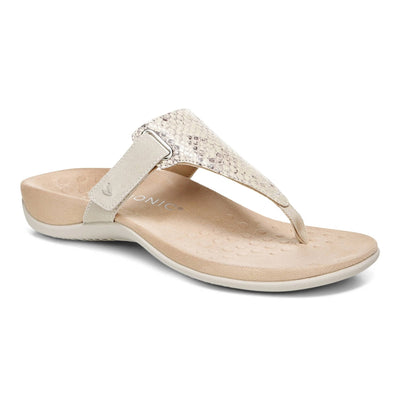 Vionic Womens Wanda Embossed Snake Bone