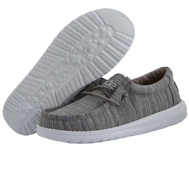 Hey Dude Youth Wally Linen Stone