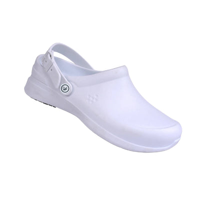 Joybees Womens Work Clog White