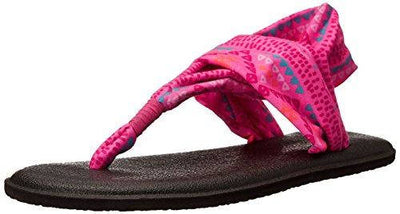 Sanuk Youth Yoga Sling Burst Prints Pink Geo Pop