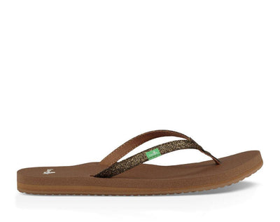 Sanuk Womens Yoga Joy Sparkle Bronze Sparkle
