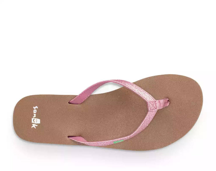 Sanuk Womens Yoga Joy Sparkle Heather Rose Sparkle