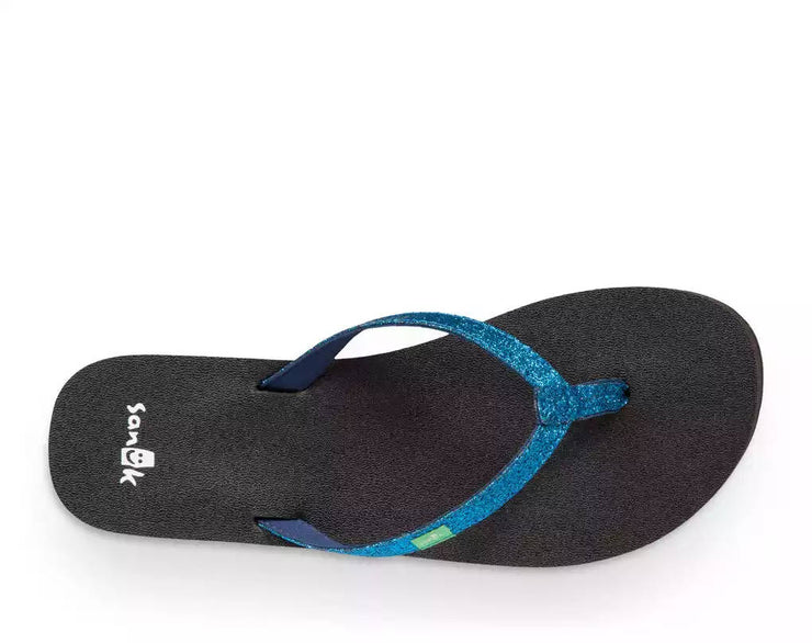 Sanuk Womens Yoga Joy Sparkle Navy Sparkle