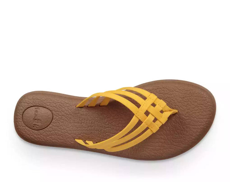 Sanuk Womens Yoga Salty Golden Rod