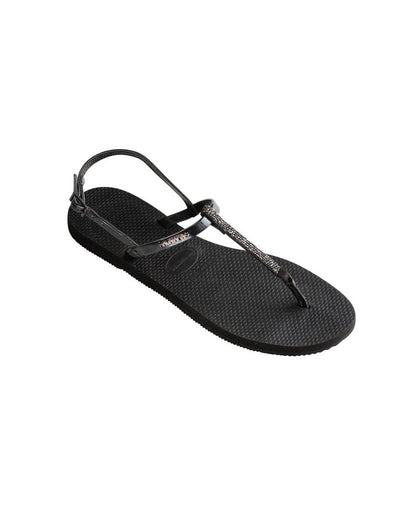 Havaianas Womens You Riviera Crystal Sandal Black