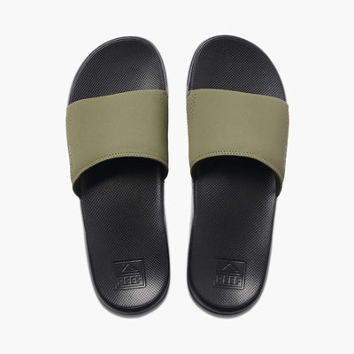 Reef Mens One Slide Black Olive