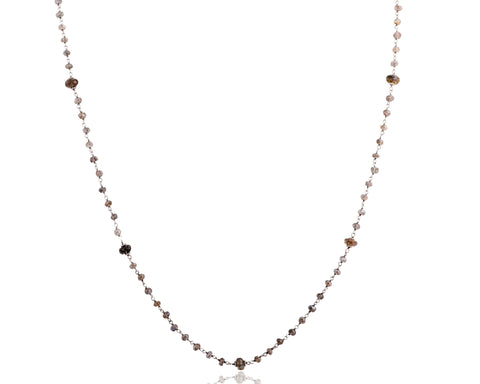 NA-12/S/LAB - Chain and Labradorite necklace