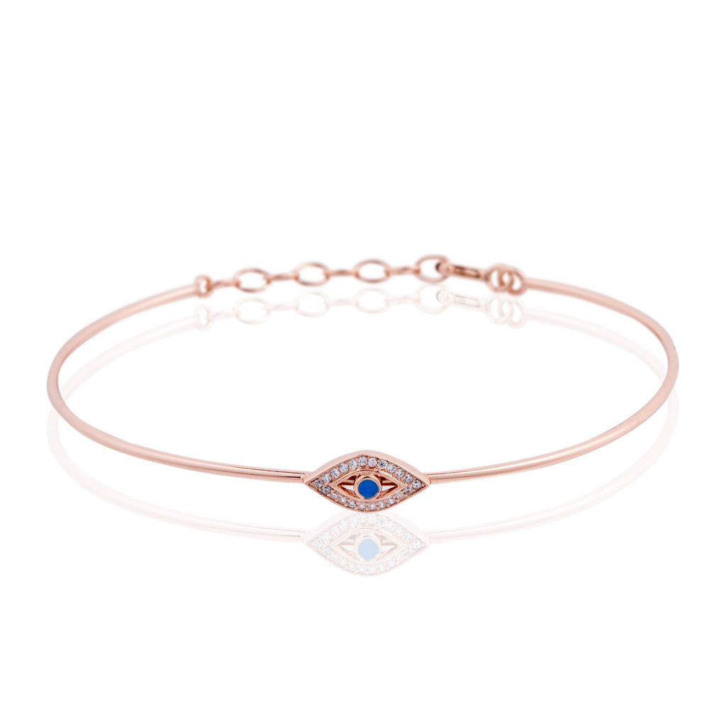 BK-301/R -  Bangle bracelet with evil eye.