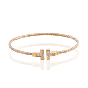 BX-737/G - Coiled T Bangle Bracelet