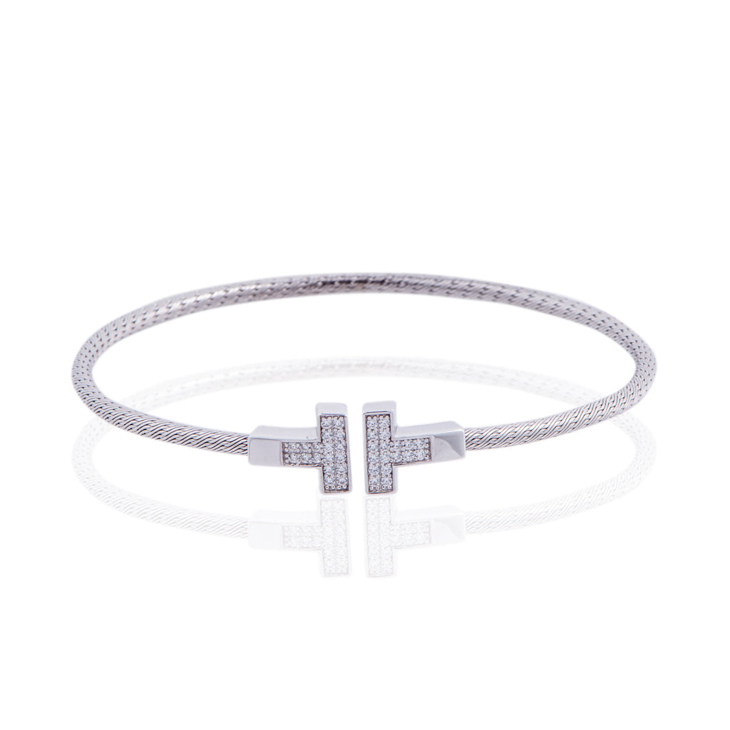 BX-737/S - Coiled T Bangle Bracelet