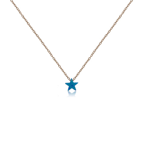 NK-57/R - Chain necklace with blue opal (NEW)