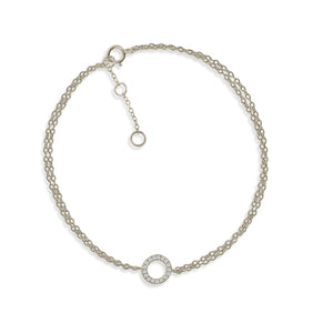 BK-56/S - Double Chain Bracelet with Circle Charm