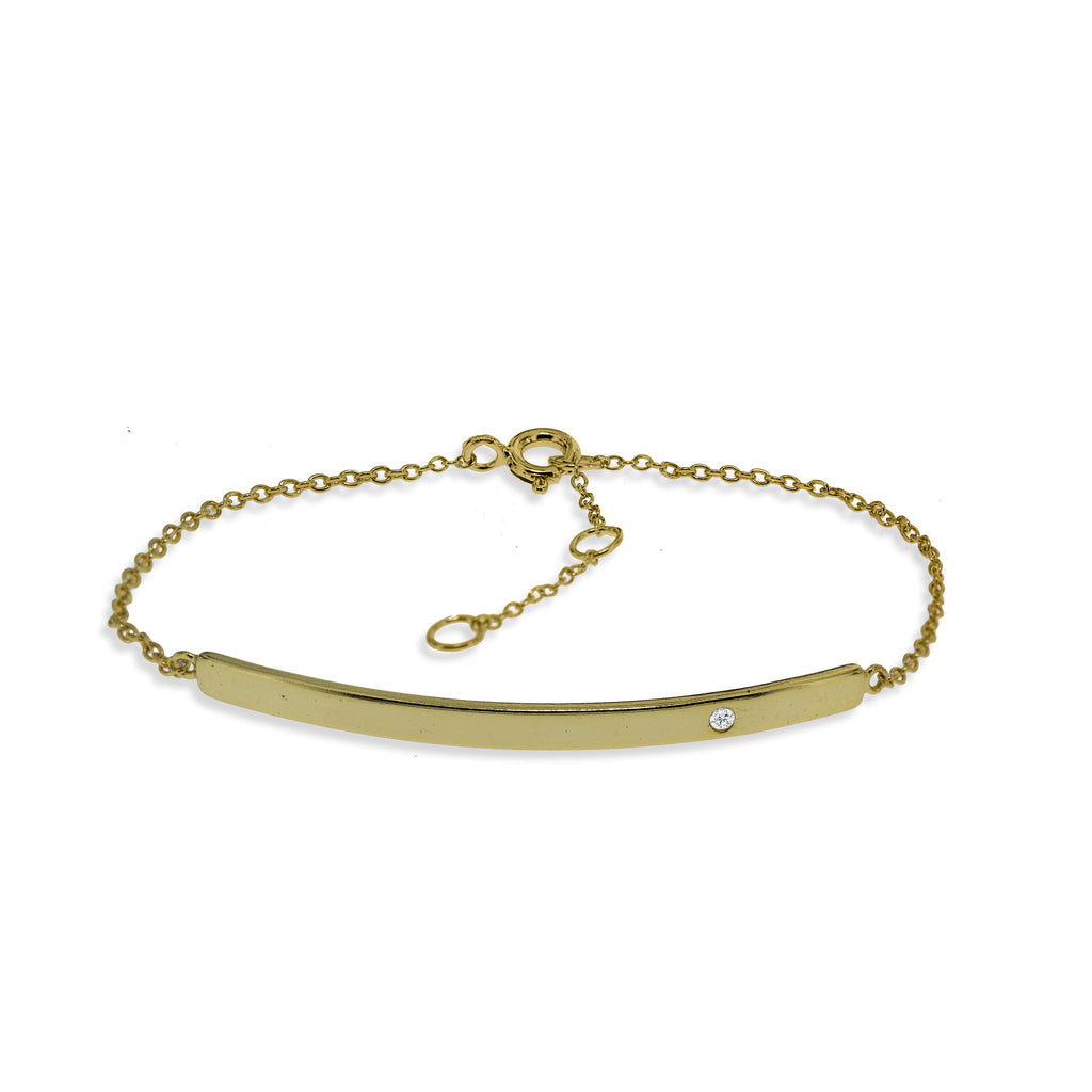 BK-72/G - Chain bracelet with plain strip (NEW)