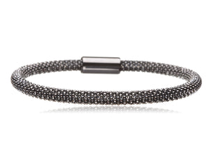 BX-733/BLS - Black Sterling Silver Bangle
