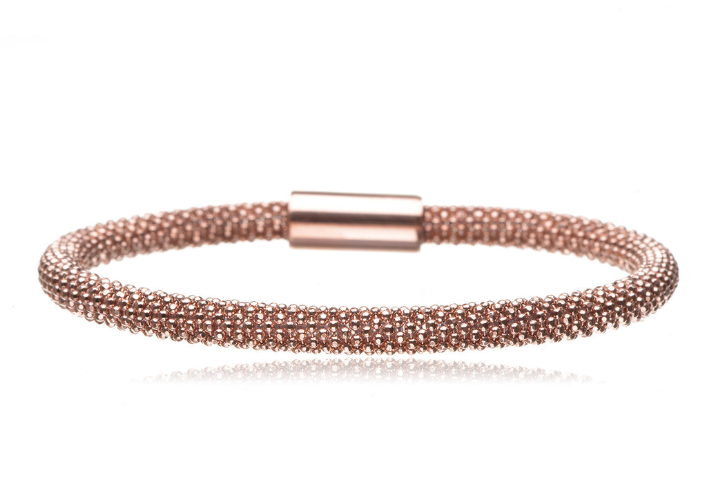 BX-733/R - Rose gold plated on silver bangle.