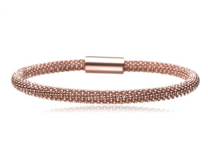 BX-733/R - Rose Gold Plated on Silver Bangle