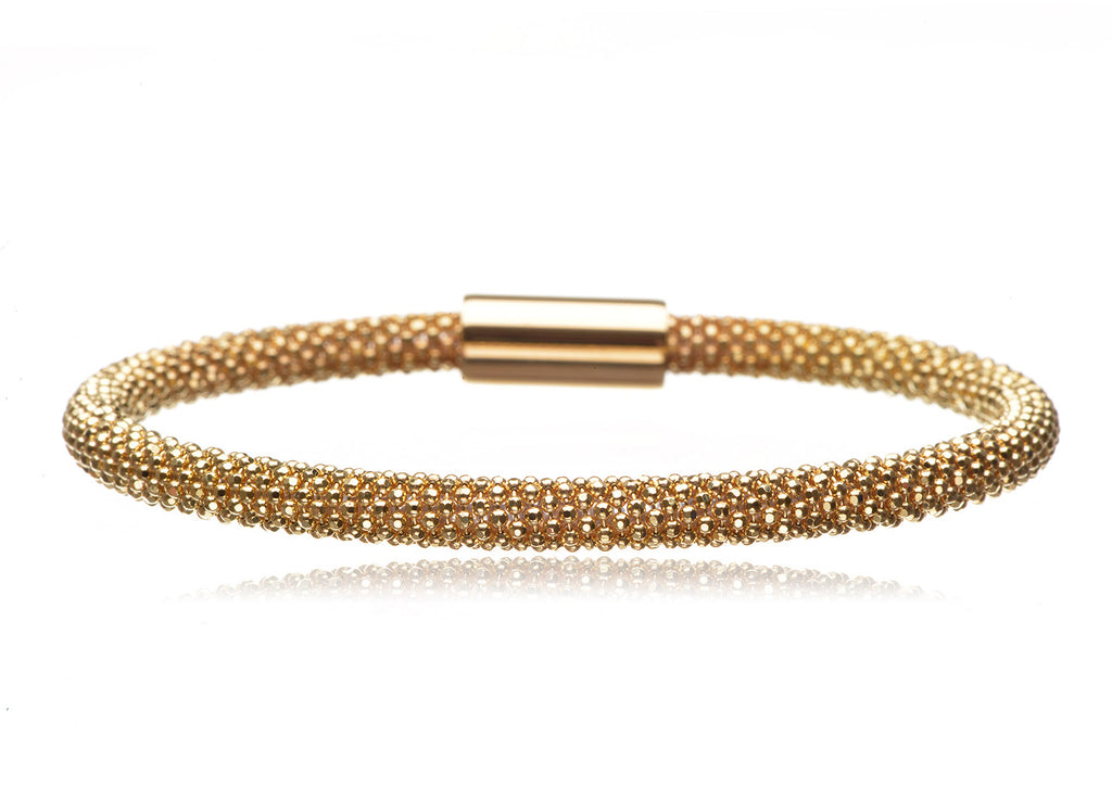 BX-733/G - Gold plated on sterling silver bangle.