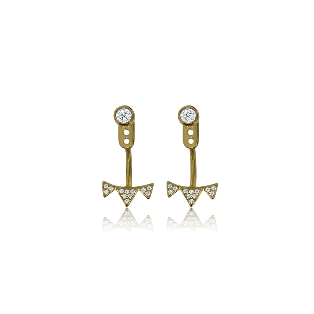 EK-23/G - CZ Ear Jacket earrings (NEW)