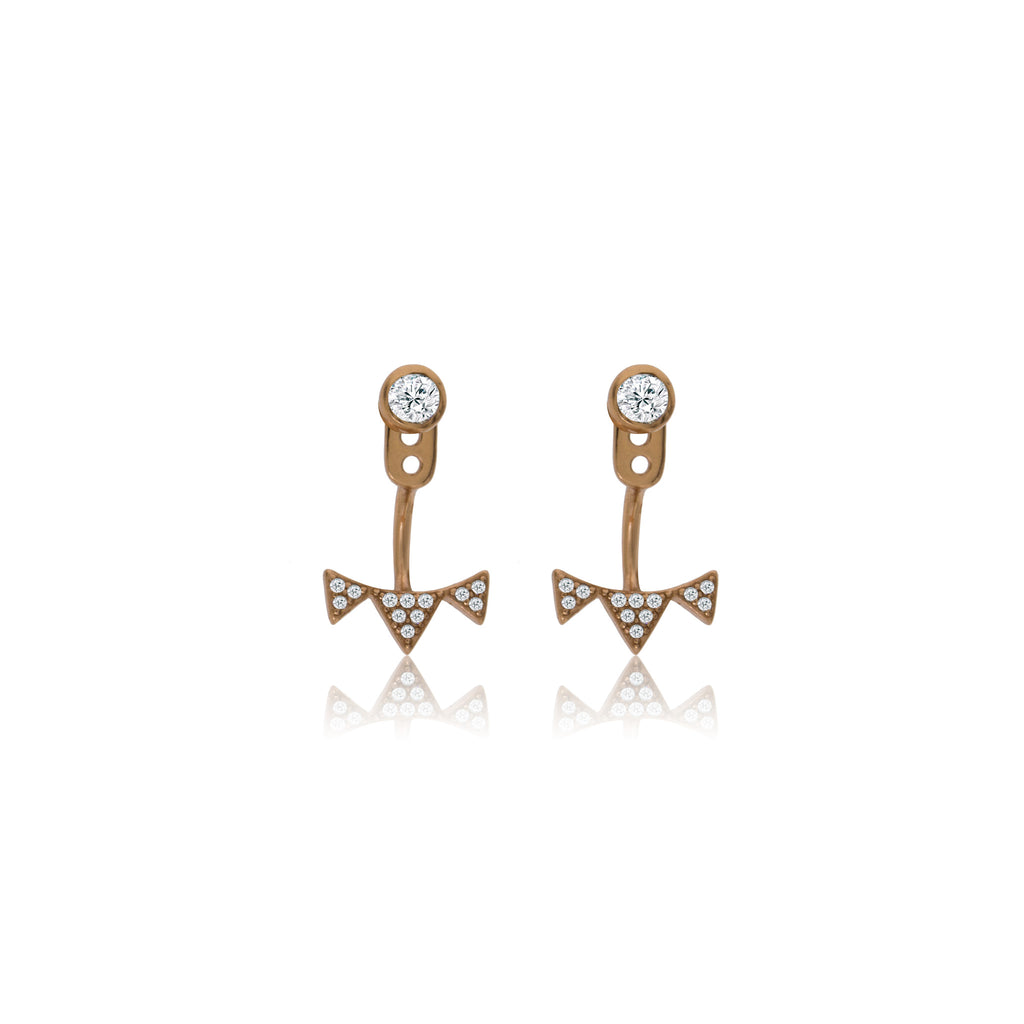 EK-23/R - CZ Ear Jacket earrings (NEW)