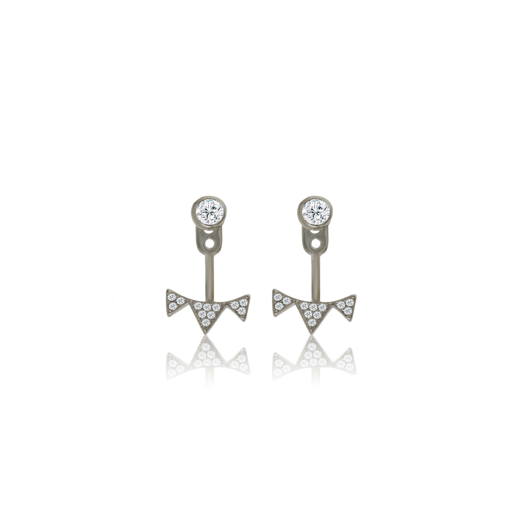 EK-23/S - CZ Ear Jacket Earrings (NEW)