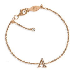 "BT-26/R/A - Initial""A' Bracelet adjustable length.(NEW)"