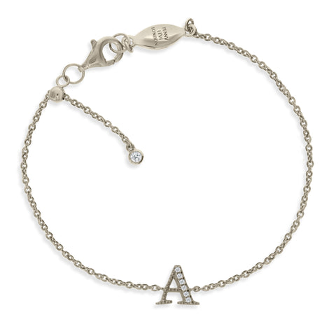 "BT-26/S/A - Initial Bracelet ""A"" adjustable length.(NEW)"