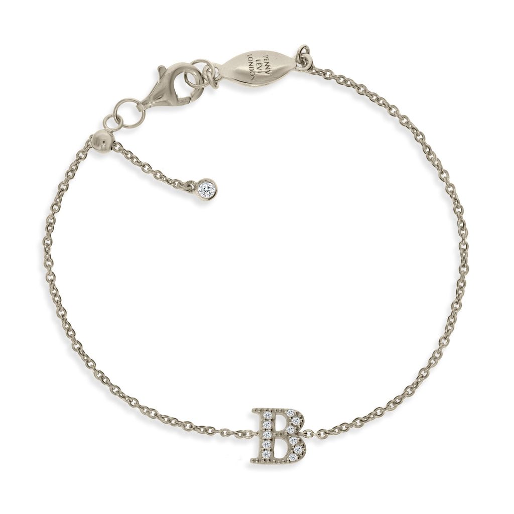 "BT-26/S/B - Initial ""B"" Bracelet adjustable length.(NEW)"