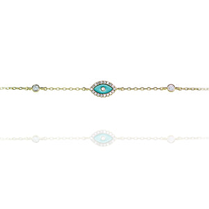 BF-12/GT - Evil Eye Bracelet with Turquoise Eye