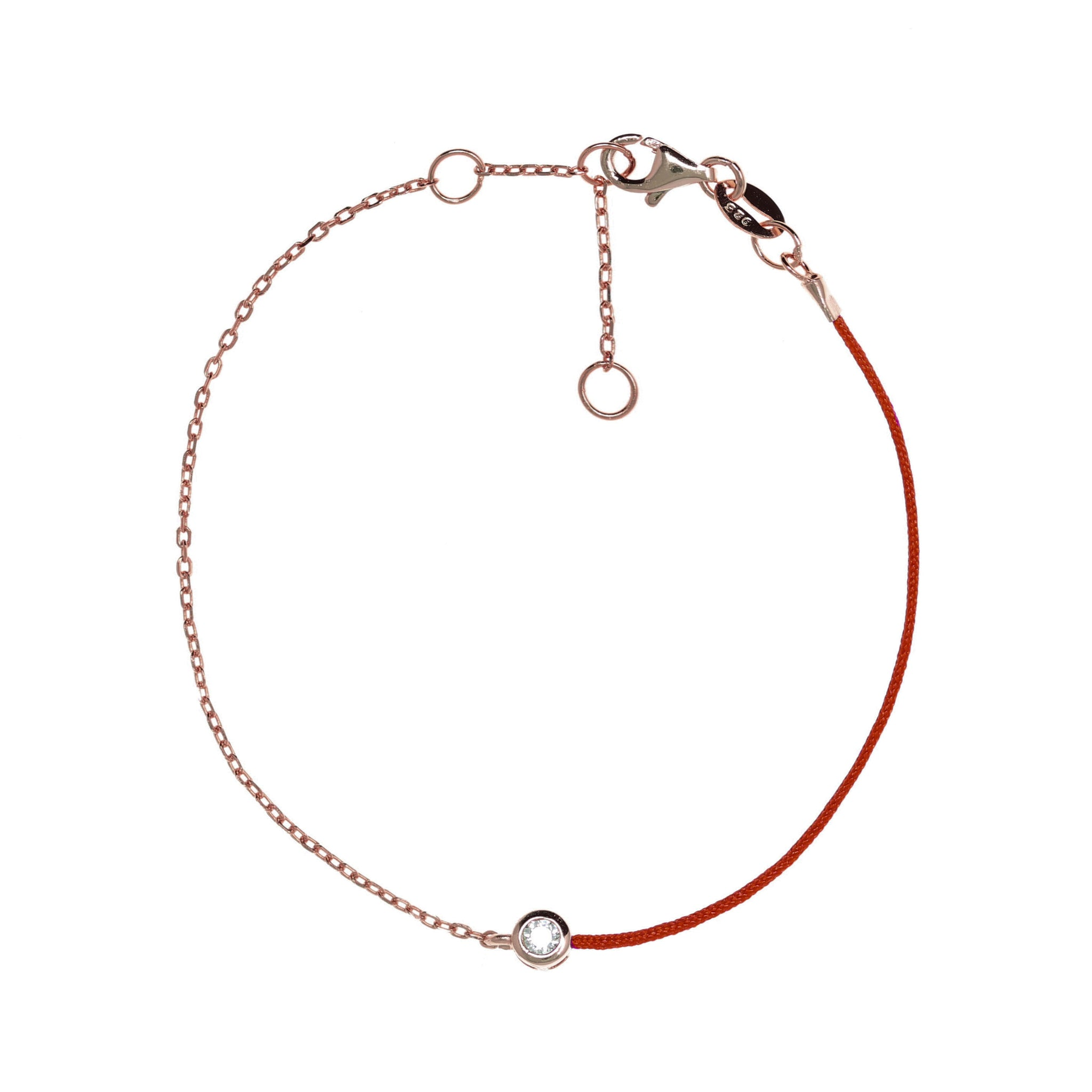 BF-2/RR - Chain and String Bracelet