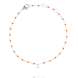 BG-10/SO -Chain and Bead Bracelet with Hanging CZ (new colour)