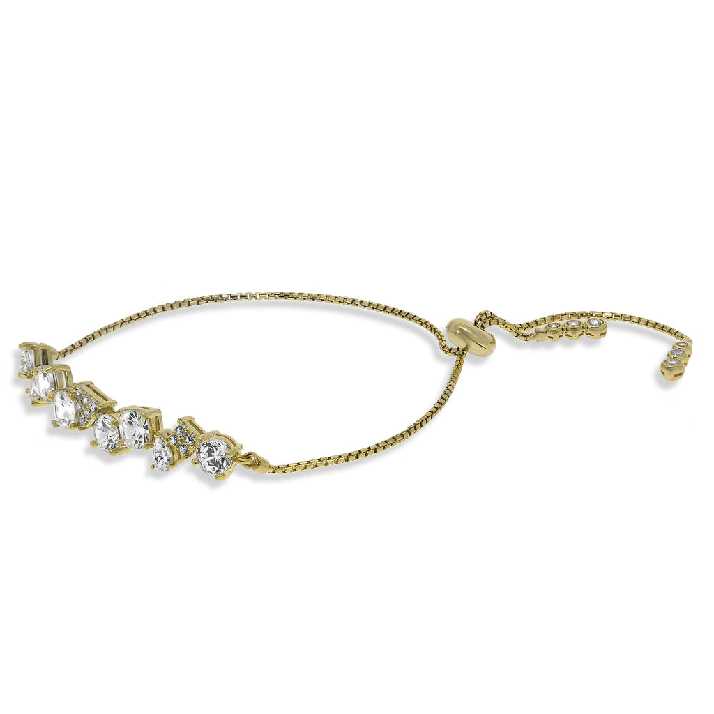 BH-1/G - Asymmetric Adjustable  Tennis  Bracelet