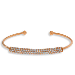 BH-3/R - Bangle Bracelet with Pave Strip