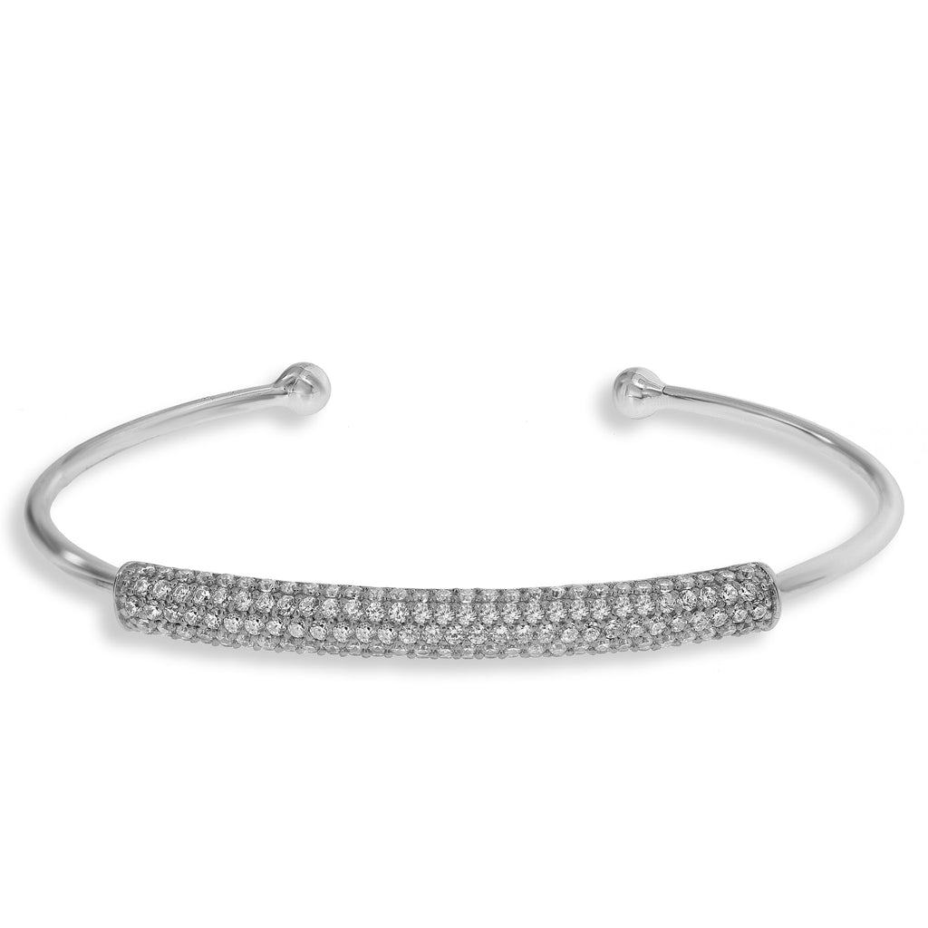 BH-3/S - Bangle bracelet with pave strip