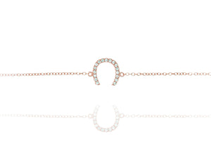 BK-50/R - Chain Bracelet with Horseshoe Charm
