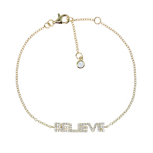 BP-1/G - Chain Bracelet with Believe
