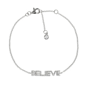 BP-1/S - Chain Bracelet with BELIEVE
