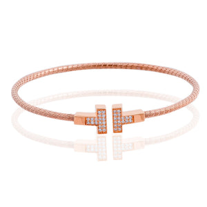 BX-737/R - Coiled T Bangle Bracelet