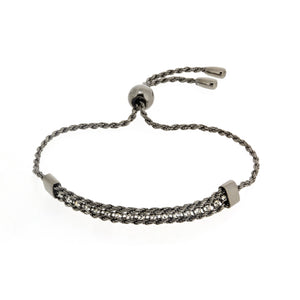 BXA-21/B - Adjustable Bracelet with Woven Rope Design