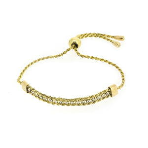 BXA-21/G - Adjustable Bracelet with Woven Rope Feature