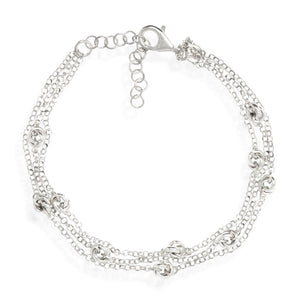 BXA-23/S - Triple Chain Bracelet with Entwined Loops