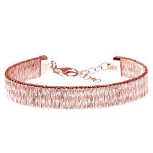 BXA-24/R - Rose Gold Bracelet with a Textured Finish