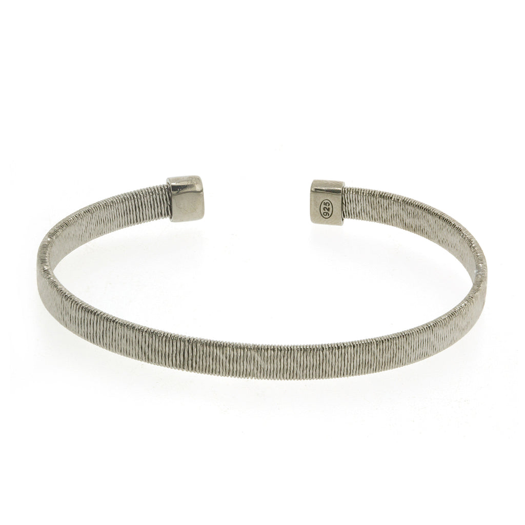 BXA-9/S - Sterling Silver flat textured Bangle Bracelet (NEW)